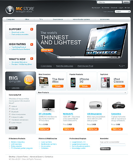 Mc store - Attractive Electronic Store Magento Theme