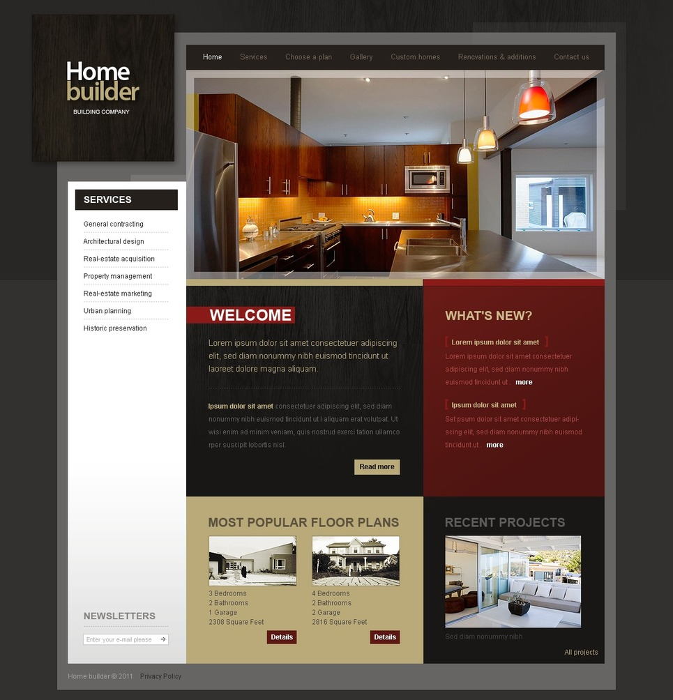Construction Company Website Template 32615