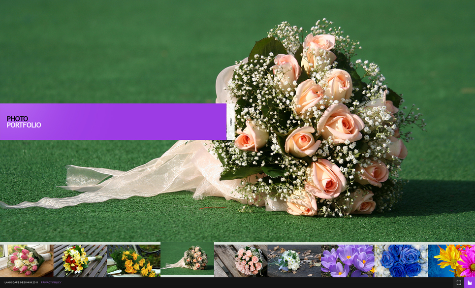 Floral Gallery with Scrolling Preview Tape - image