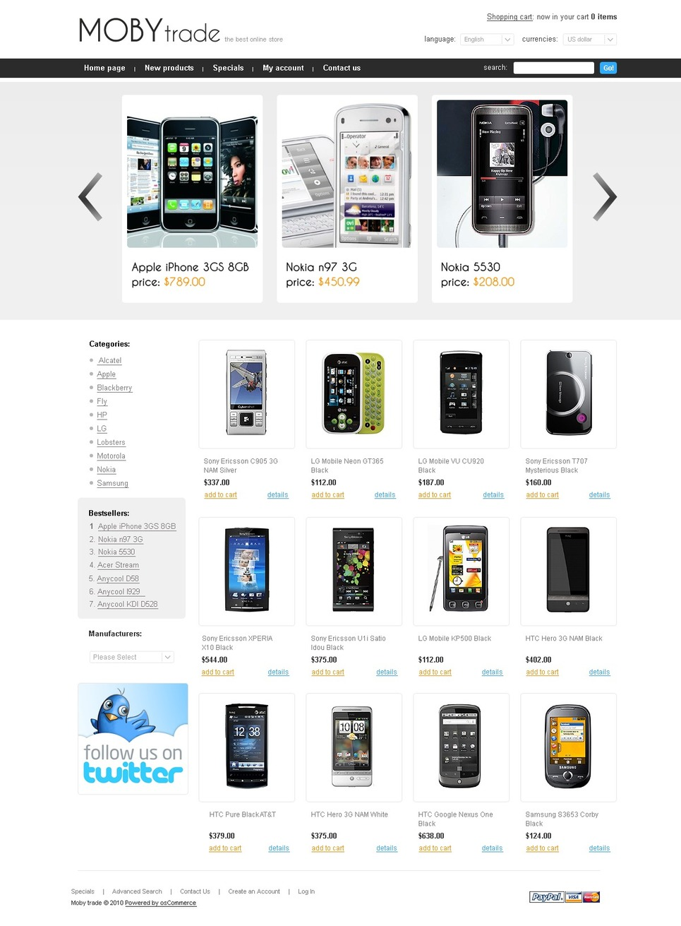 Professional Looking Mobile Store Template 1