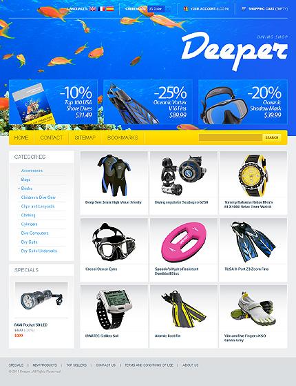 Заказ создания сайта или интернет магазина на тему Спорт, Интернет магазины, на основании шаблона №32649.