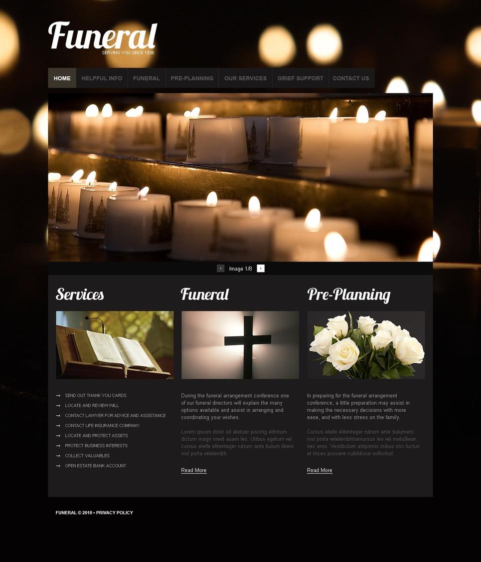 Funeral services website template 32685 - Funeral home website design ...