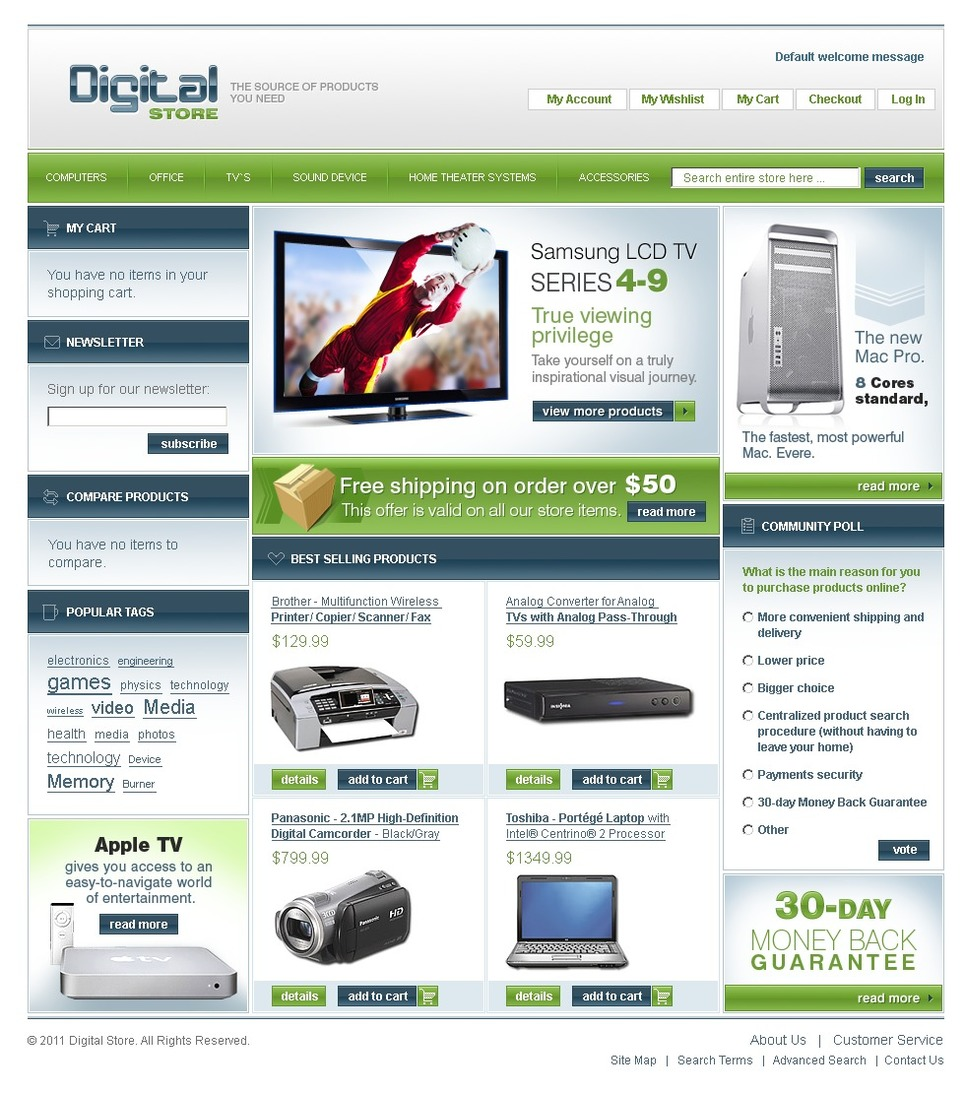 Fascinating Electronics Digital Store Magento Theme