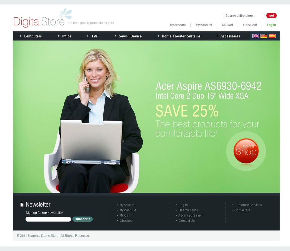ExtraOrdinary Digital Store Magento Theme