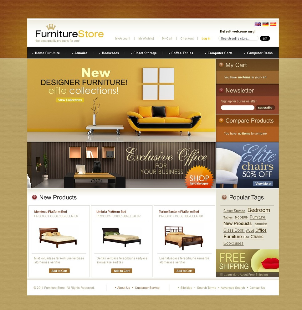 Furniture Magento Theme New Screenshots BIG
