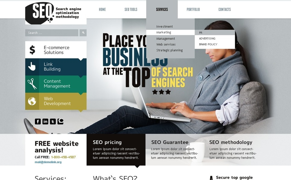 SEO Website WordPress Theme New Screenshots BIG