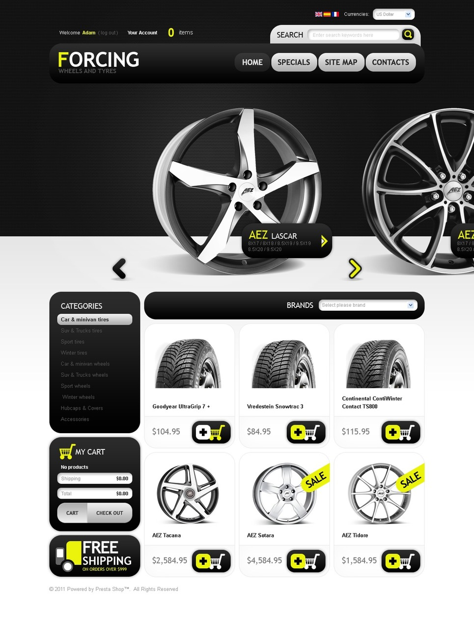 Wheels & Tires PrestaShop Theme New Screenshots BIG