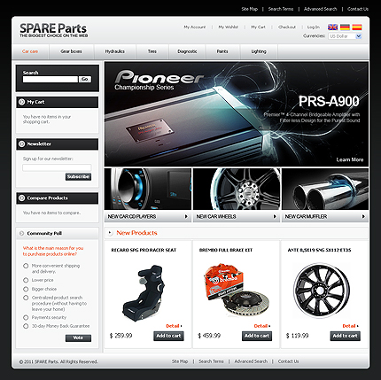 Auto Parts Website Template. 11 auto parts and cars website ...
