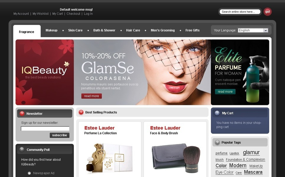 Cosmetics Store Magento Theme New Screenshots BIG