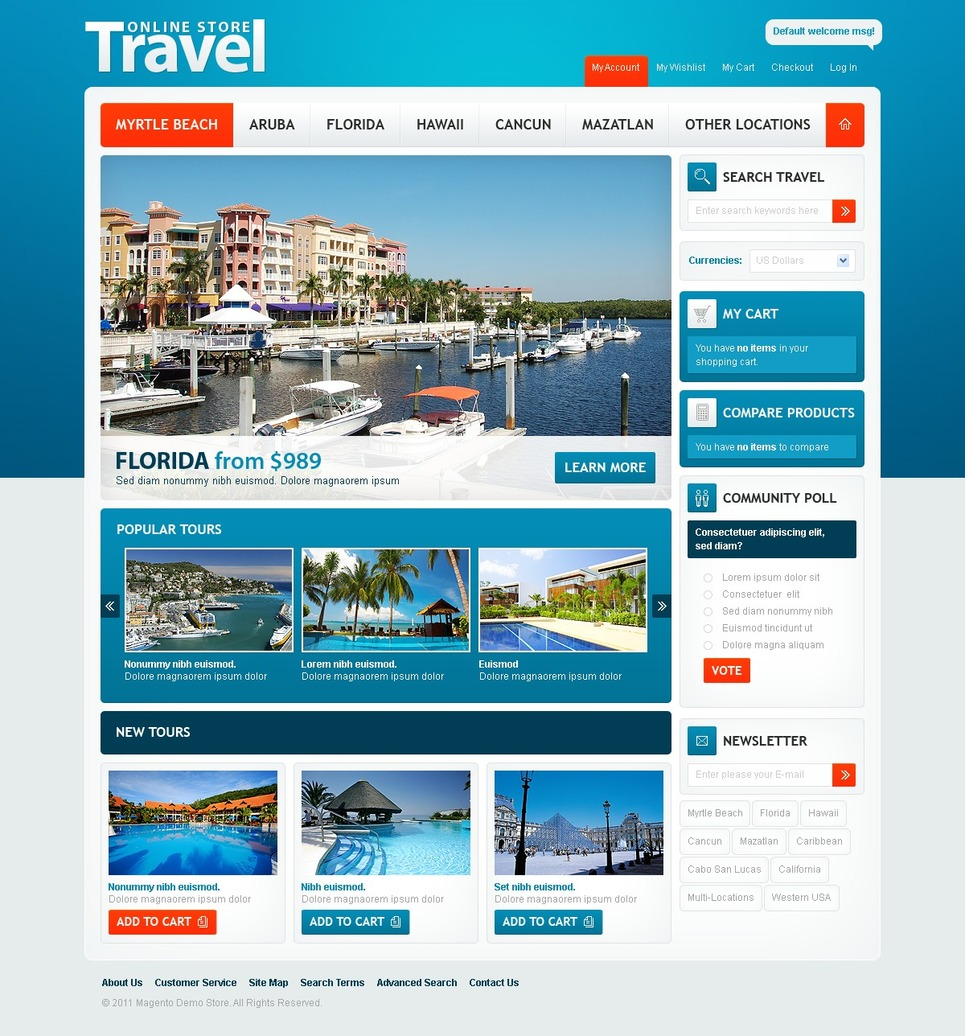 Travel Agency Magento Theme New Screenshots BIG