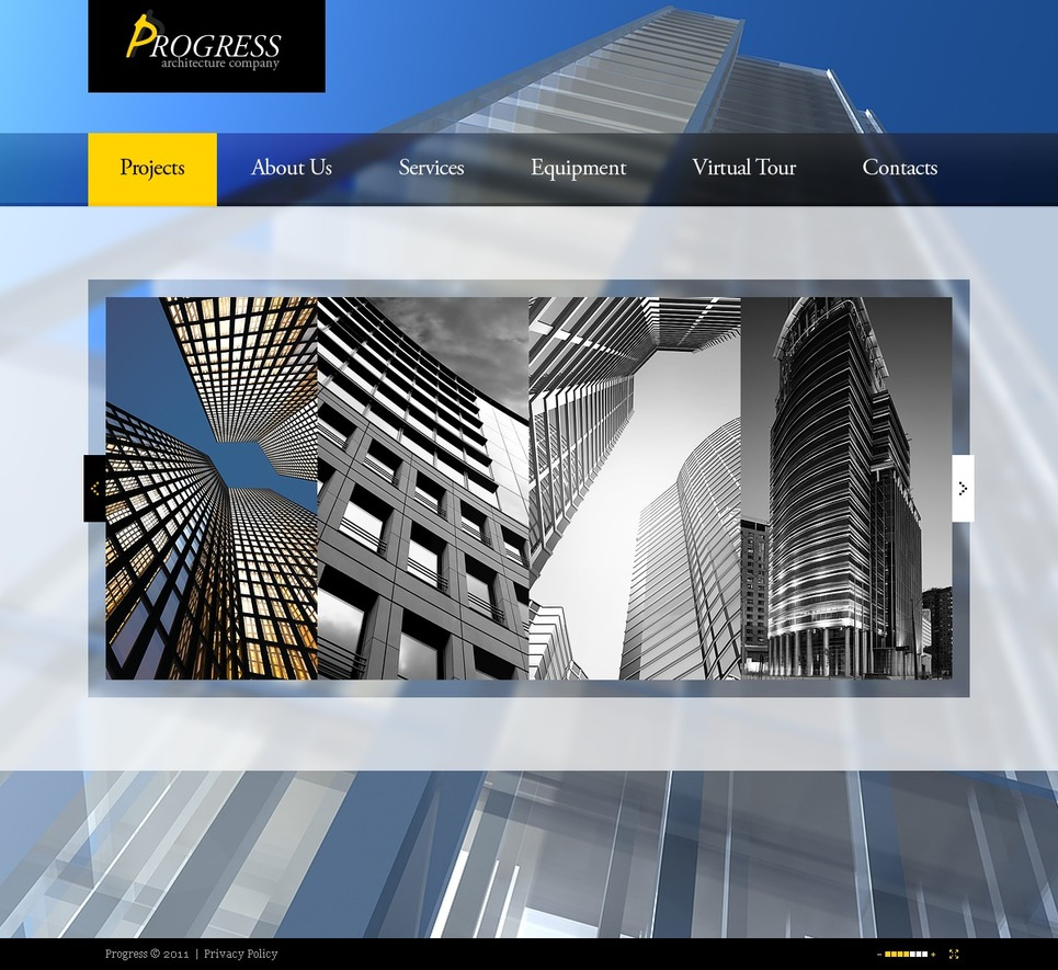 Architecture Flash Template New Screenshots BIG