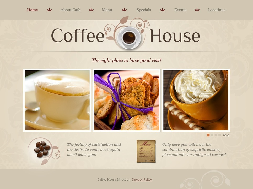 Coffee Shop Website Template New Screenshots BIG