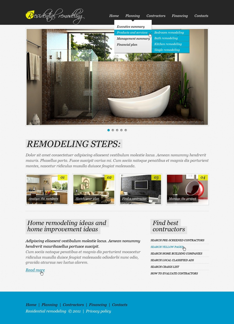 home remodeling website template web design templates