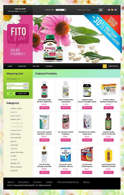Fito vita - Bracing Online Pharmacy Store PrestaShop Theme