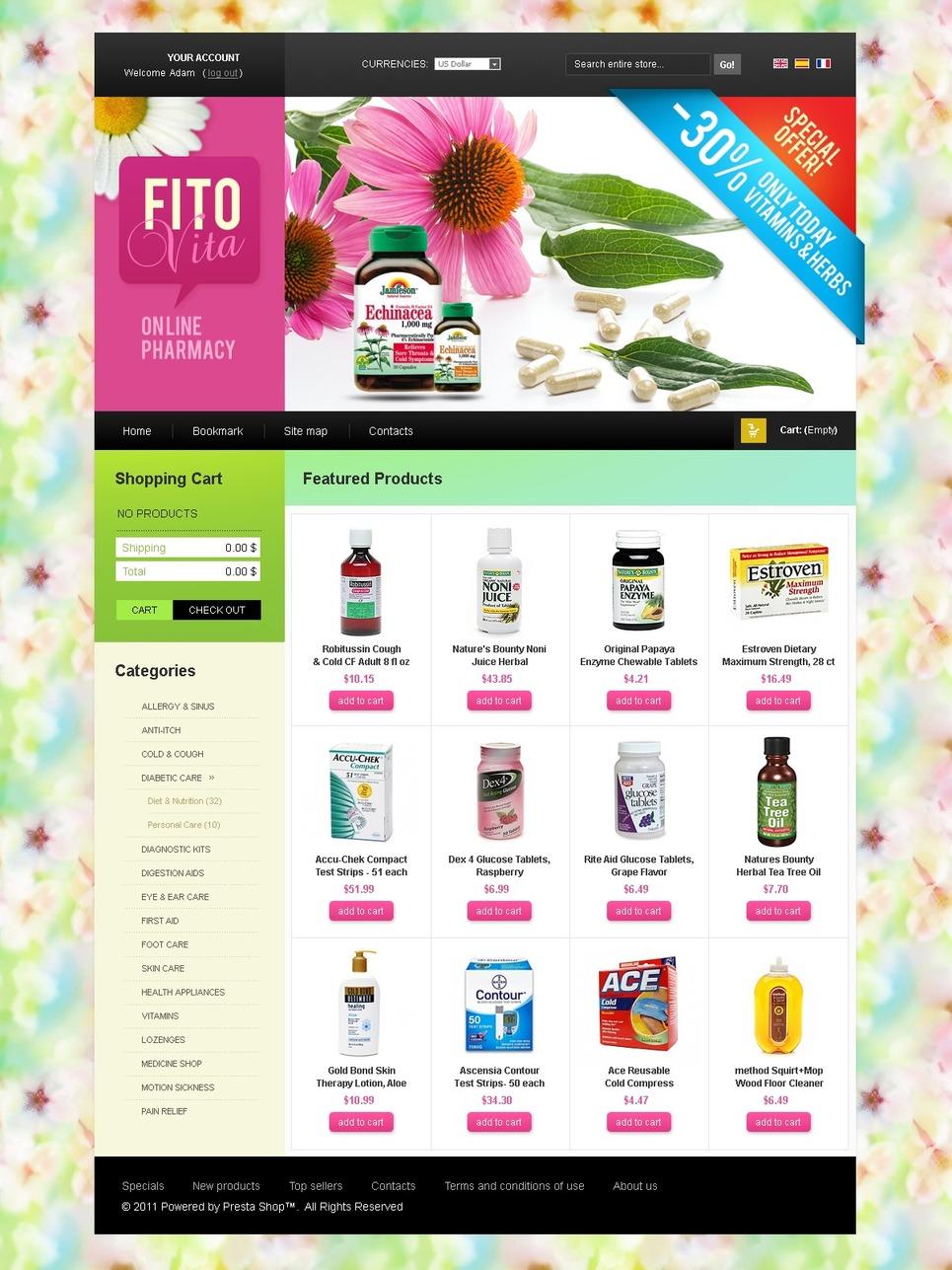 Online Pharmacy PrestaShop Theme New Screenshots BIG