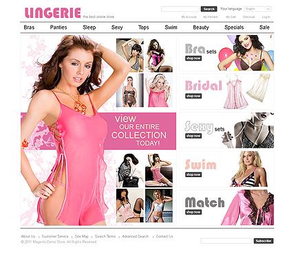 Lingerie - Utmost Magento Lingerie Store Theme