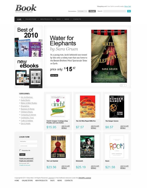 Book Store VirtueMart Template New Screenshots BIG