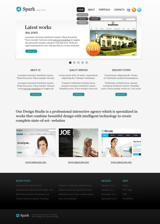 Web Design WordPress Theme New Screenshots BIG