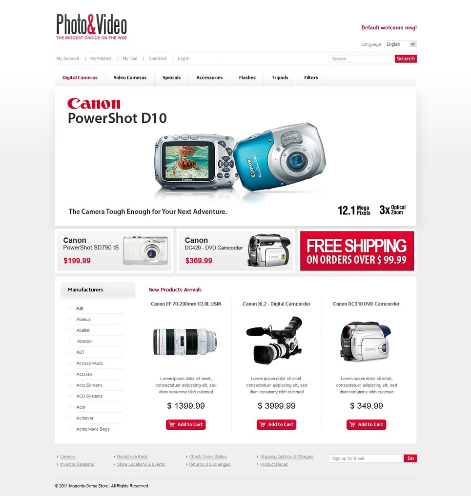 Dynamic Photo & Video Magento Theme