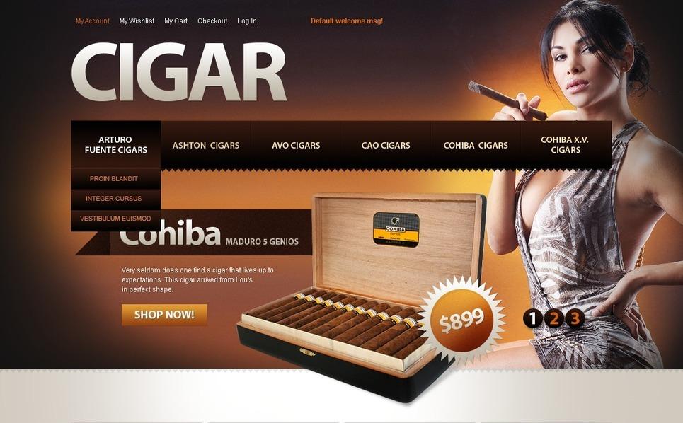 Tobacco Magento Theme New Screenshots BIG
