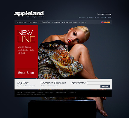 Apple land - Elegant Magento Fashion Store Theme