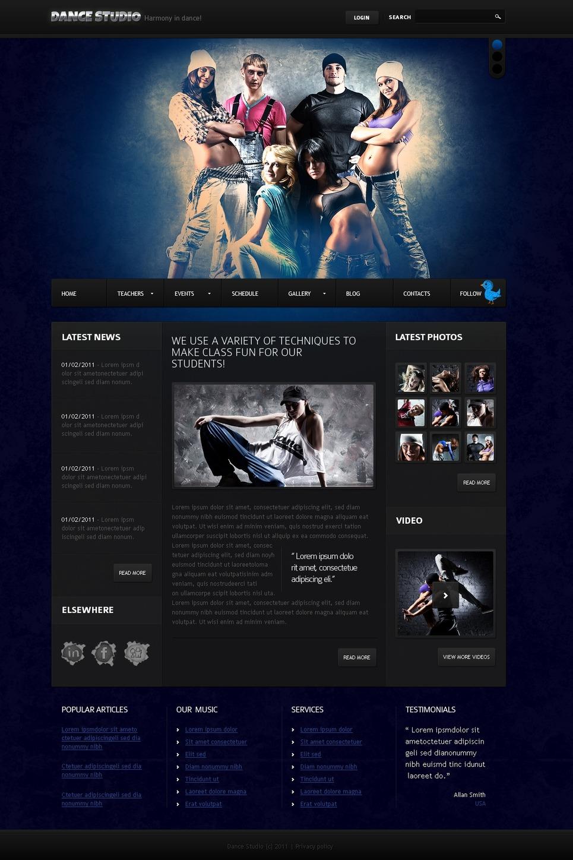 Dance Studio Joomla Template New Screenshots BIG