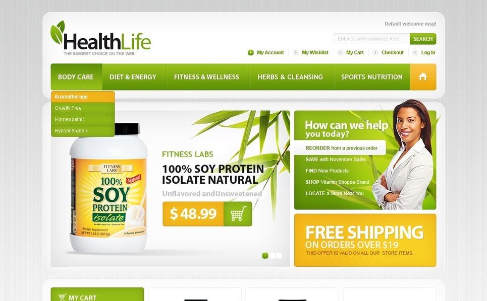 Nutrition Store Magento Theme New Screenshots BIG