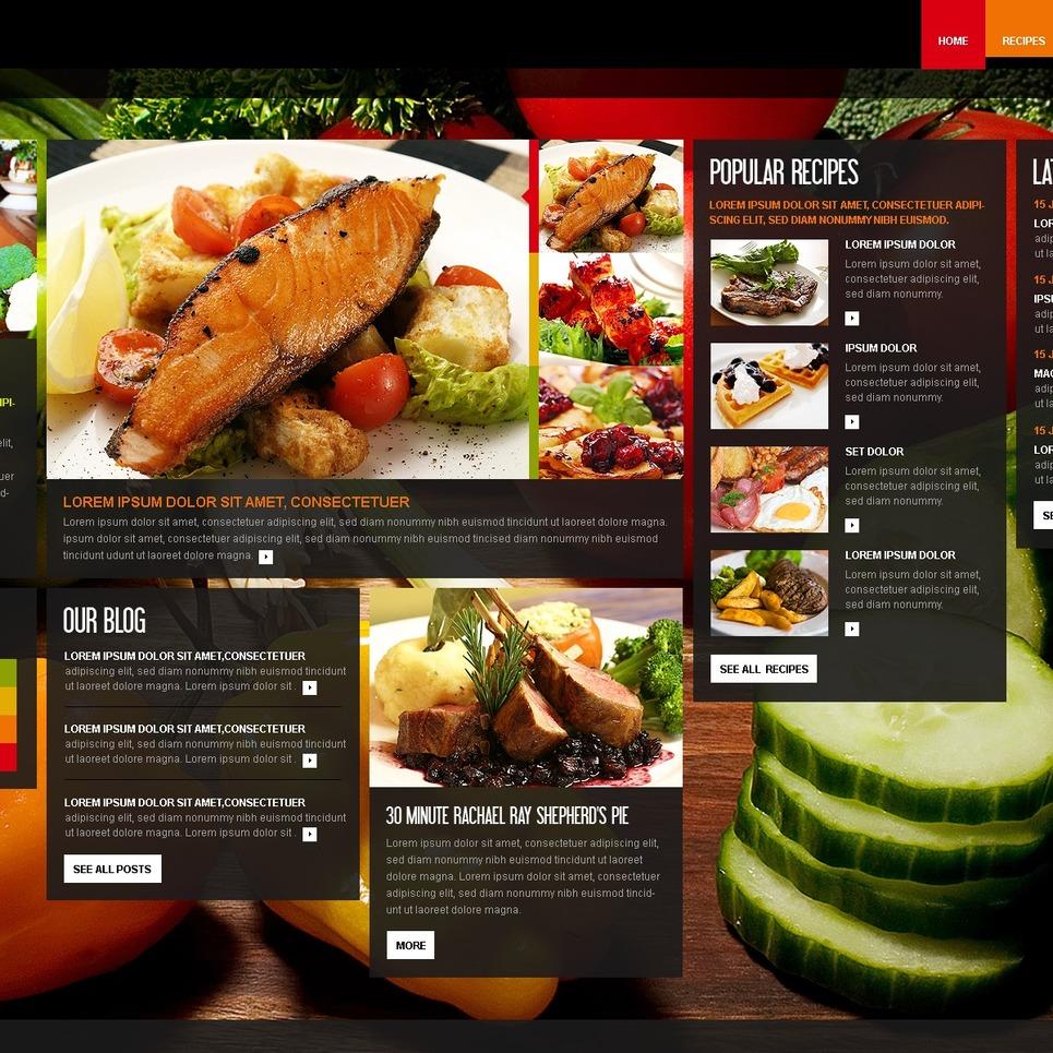 Modello siti web per un sito di cucina for Siti cucina