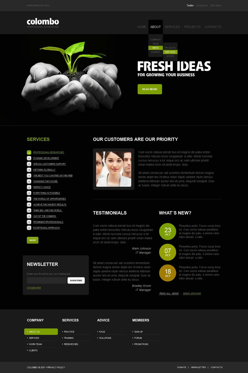 fresh business ideas website template web design