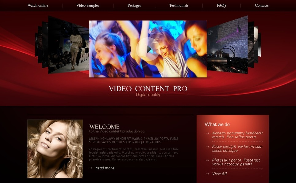 Video Lab Website Template New Screenshots BIG