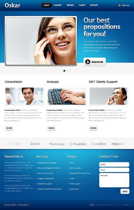 Website Template #33114
