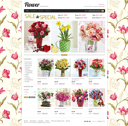 Flower Store - Exotic Flower Store PrestaShop Theme