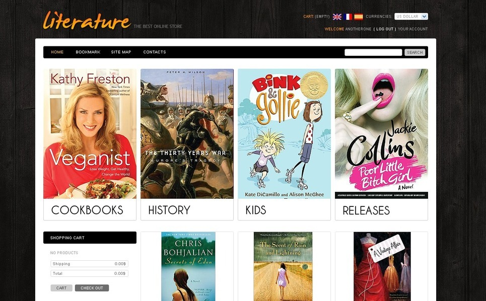 Reader's Store PrestaShop Theme New Screenshots BIG
