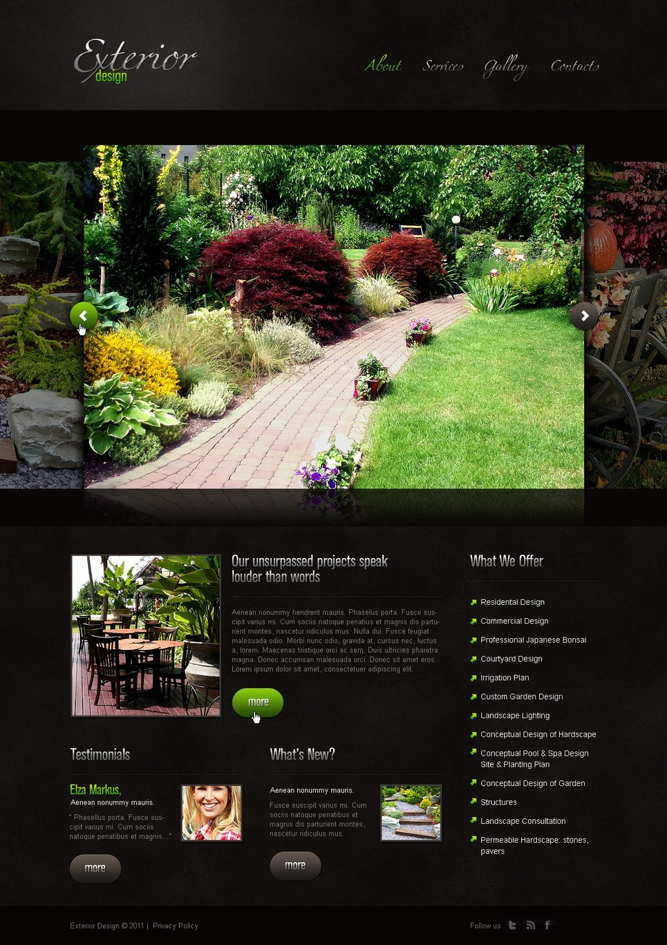 Exterior design website template 33148 for Exterior design website templates