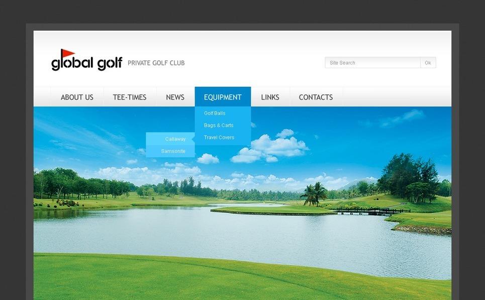 Golf WordPress Theme New Screenshots BIG
