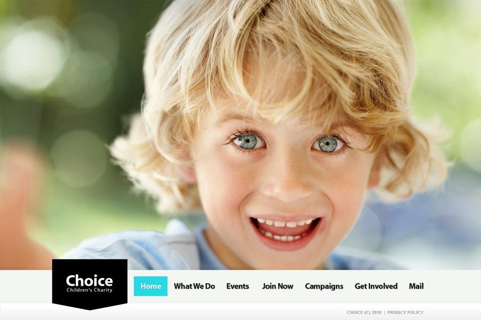 Choice - Wonderful Child WordPress Charity Organization Theme