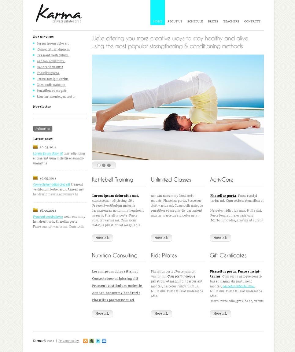Modello siti web per un sito di yoga for Siti web di costruzione domestica