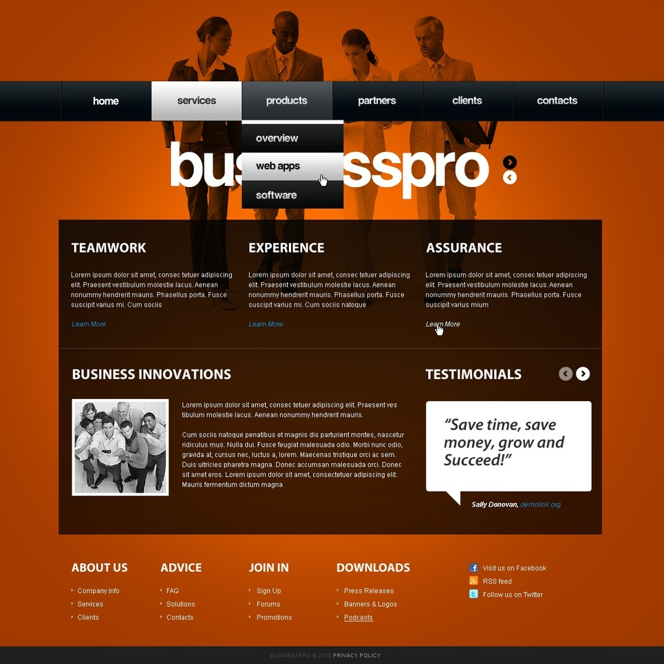 Joomla Template For Software Company