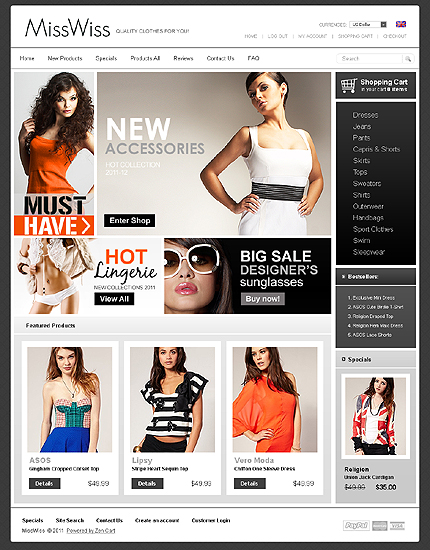Clothing Website Templates. 39 boutique website themes templates ...