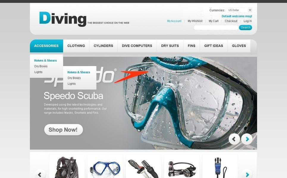 Diving Magento Theme New Screenshots BIG