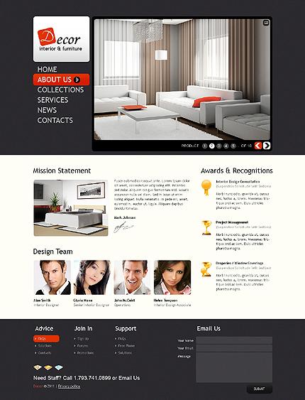 Interior furniture website template 33364 for Interior furniture website