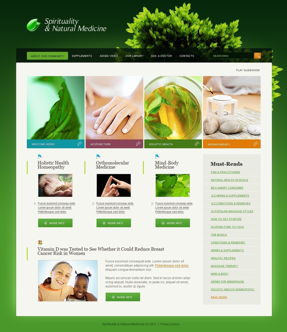 Herbal SWiSH Template New Screenshots BIG