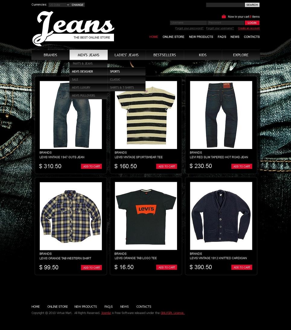 Jeans VirtueMart Template New Screenshots BIG