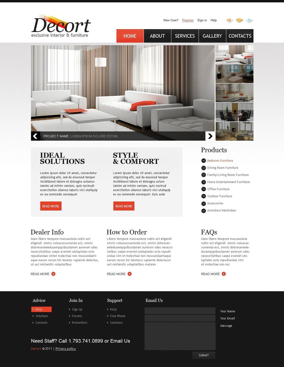 Furniture Html Templates Interior & Furniture Website Template - Web Design ...