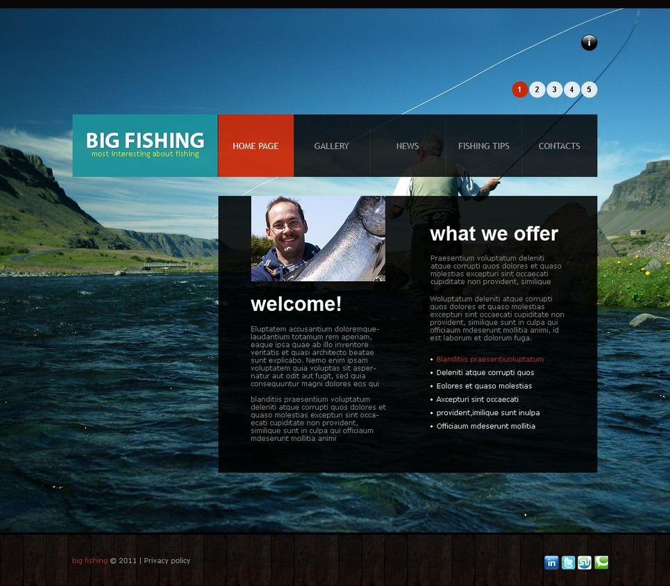 Fishing Joomla Template New Screenshots BIG