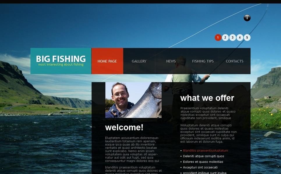Fishing Joomla Template New Screenshots BIG