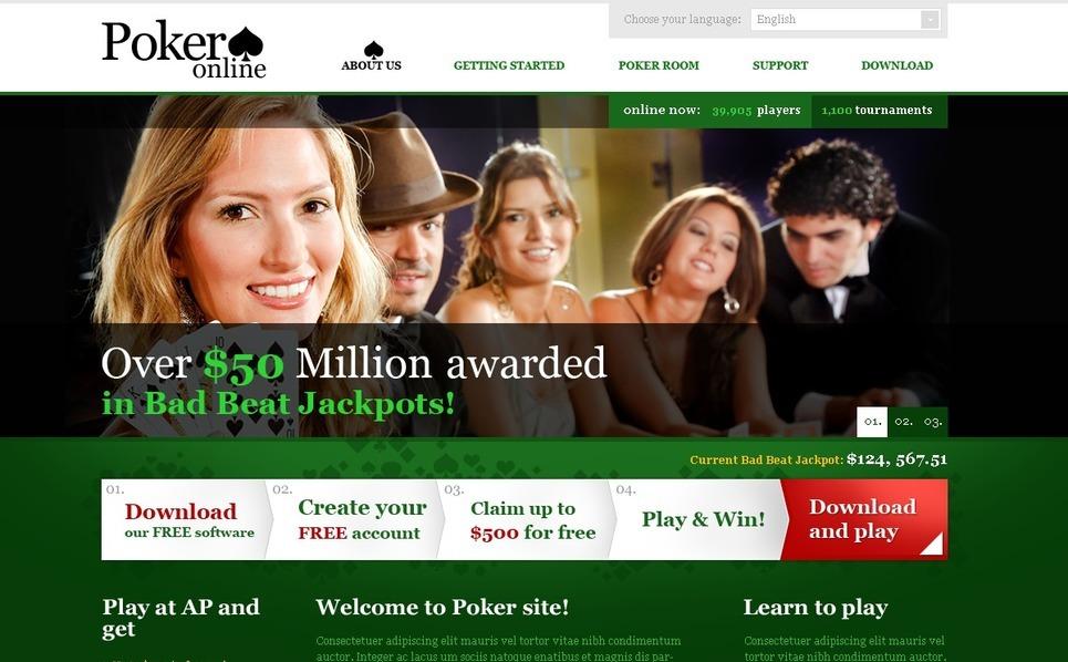 Online Poker Website Template New Screenshots BIG