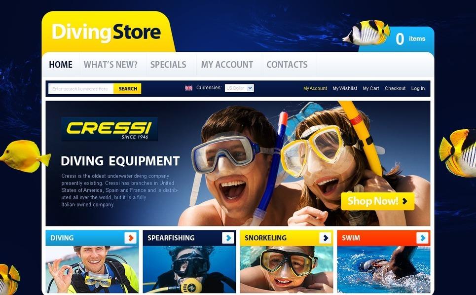 Diving OsCommerce Template New Screenshots BIG