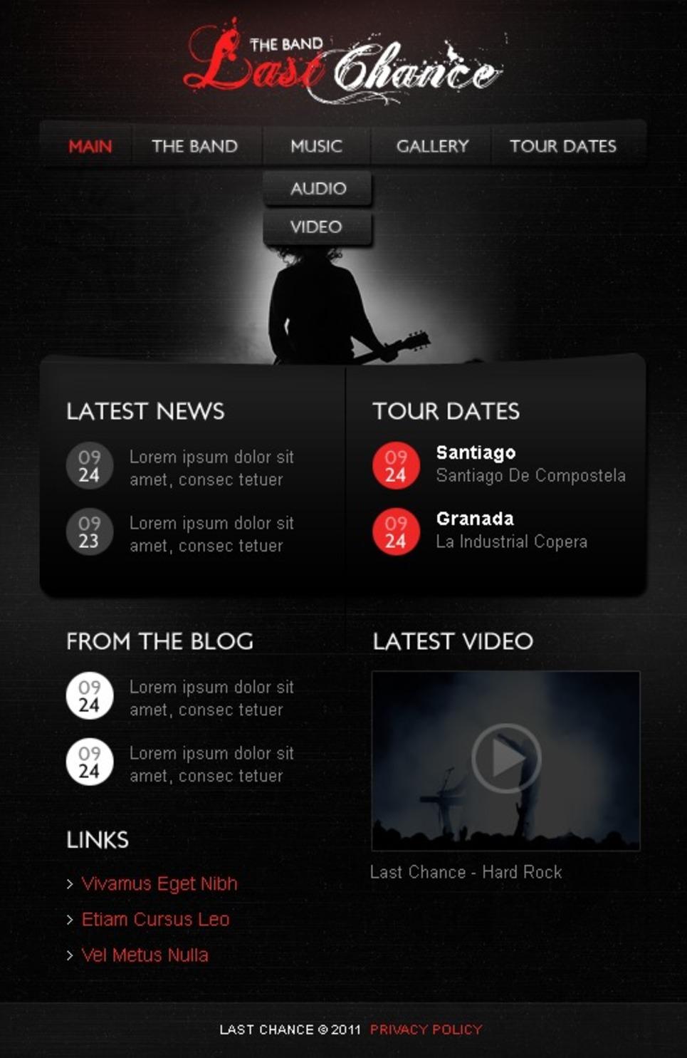 Music Band Facebook Template New Screenshots BIG