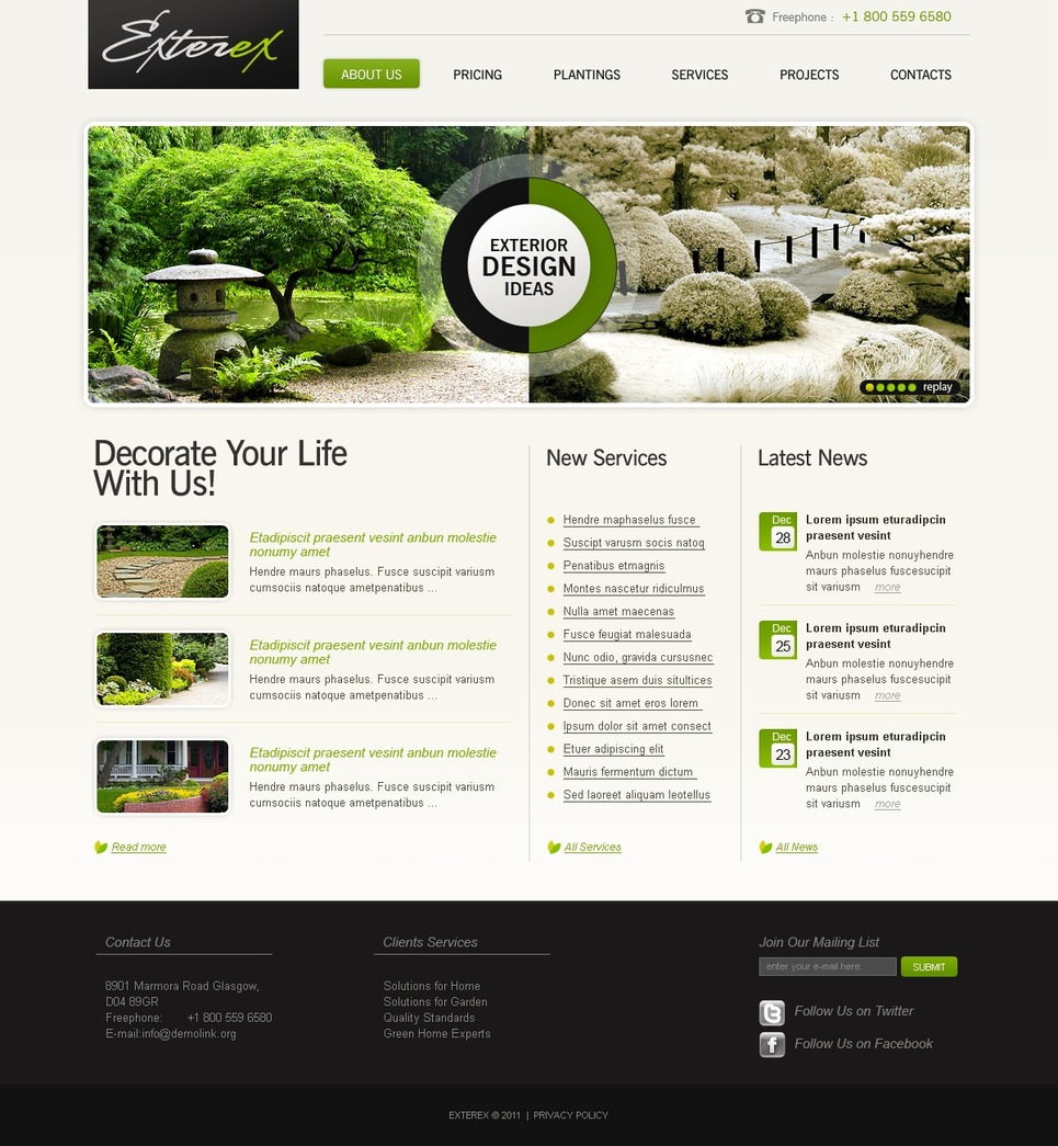 Landscape Design SWiSH Template New Screenshots BIG
